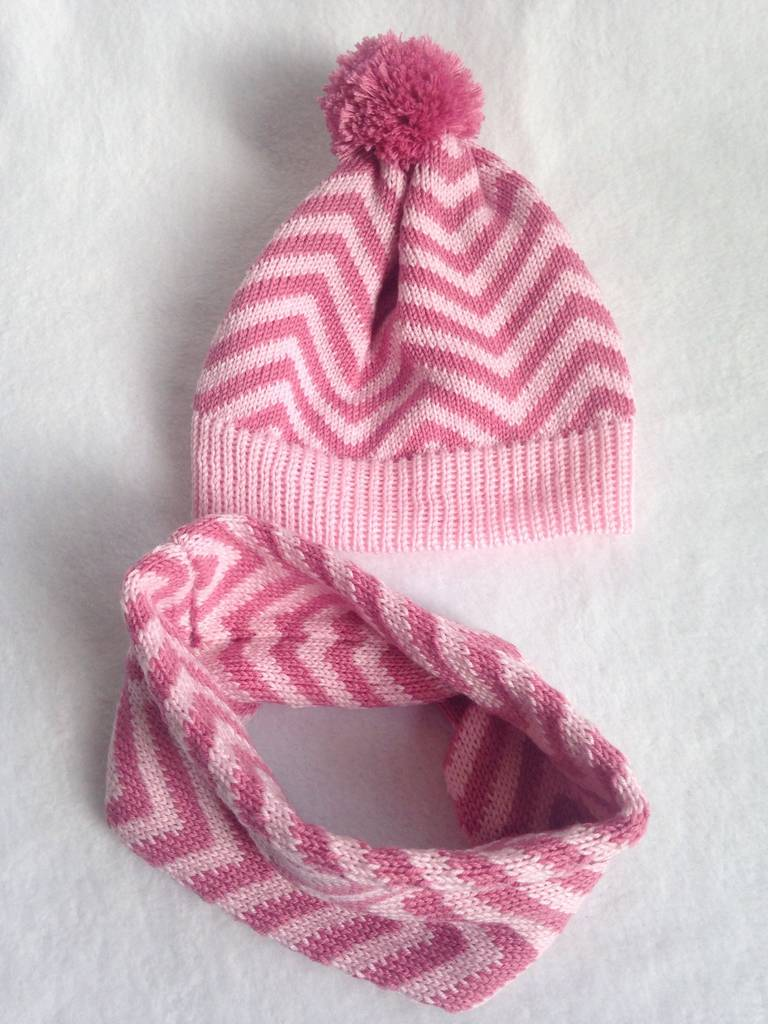 d0bf244ced6 kids knitted chevron hat and snood gift set by toutpetit ...
