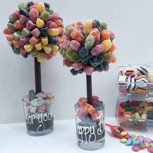 Personalised Jelly Baby Sweet Tree - gifts for him sale