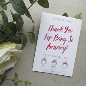 Personalised Thank You Teacher Face Mask Gift
