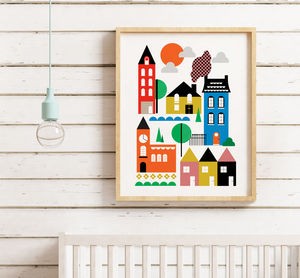 Colourful Town Print