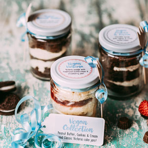 Vegan Cake Jar Collection