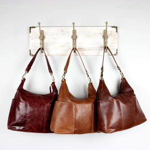 Amesbury Leather Pocket Hobo Bag
