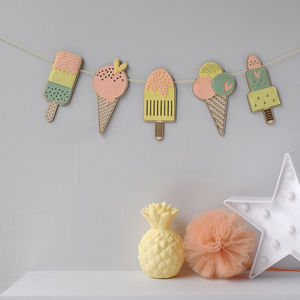 Ice Cream And Ice Lolly Garland - bunting & garlands
