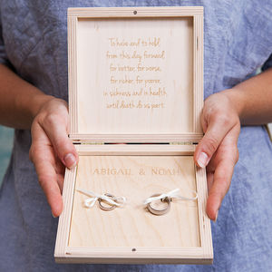 Personalised Mr And Mrs Wedding Ring Box - jewellery storage & trinket boxes