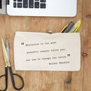 Personalised Teacher Quote Pencil Case