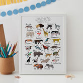 Personalised Animal Alphabet Print - what's new