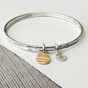 Personalised Solar Disk Bangle