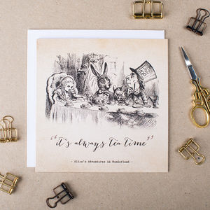 Alice In Wonderland 'Tea Time' Card