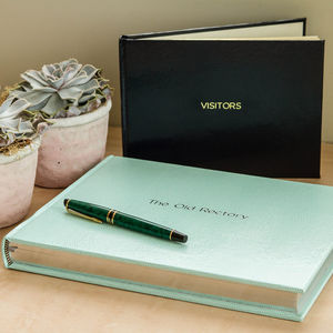 Jubilee Small Lined Visitors Book - personalised