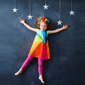 Rainbow Dress - children's festive partywear