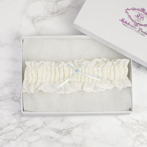 Elasticated 'Simply Chic' Bridal Garter - wedding fashion