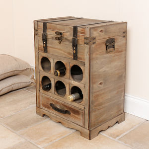 Cave De Ferme Luxury Large Wine Crate Rack - drink & barware