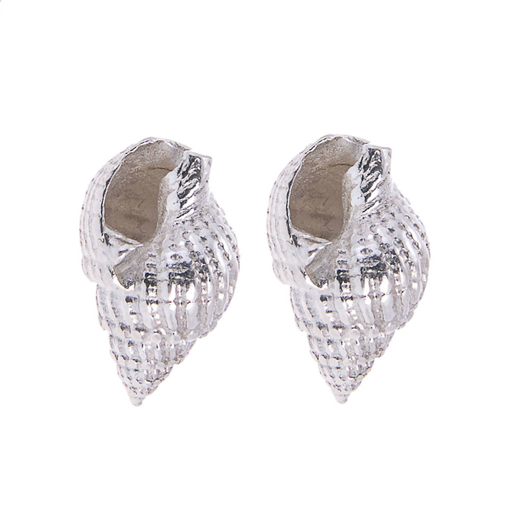 ocean shell pin mermaid earrings beach seashell and stud