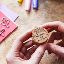 Personalised Shooting Star Teacher Stamp