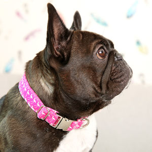 Flamingo Pattern Dog Collar - more