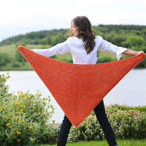 Diy Knitting Kit Poncho Wrap Scarf