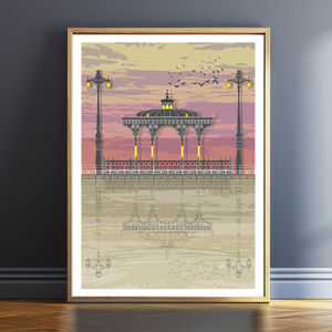 Bandstand Sunset Architectural Print