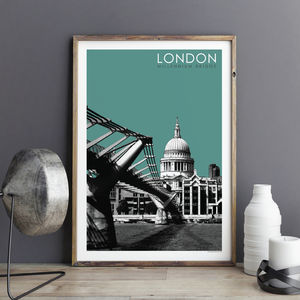 London Print Millennium Bridge - maps & locations