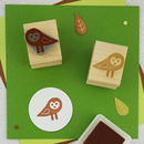 Baby Barn Owl Rubber Stamp