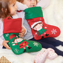 Personalised Embroidered Elf Christmas Stocking