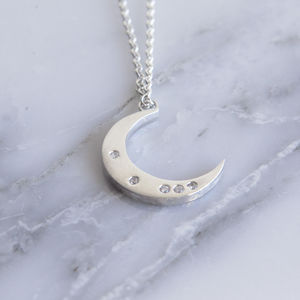 Celestial Moon Diamond Necklace