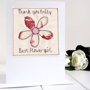 Personalised Thank You Card - bridesmaid cards