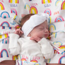 Personalised Rainbow Swaddle Blanket