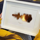 Personalised Metallic Sound Wave Song Print