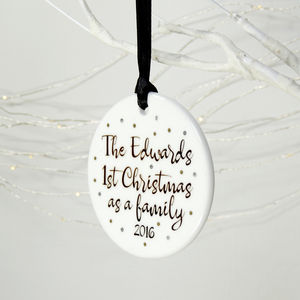Personalised 1st Christmas As A Family Decoration - new in christmas
