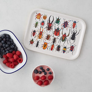 Beetles Birch Wood Breakfast Tray