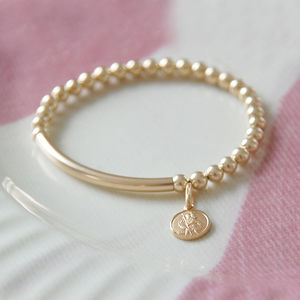 Teeny Tiny 14k Gold Filled St Christopher Bracelet - children's jewellery