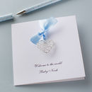 Personalised New Baby Wire Heart Card