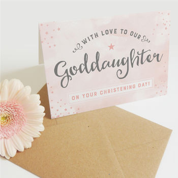 Our Goddaughter Christening Day Card