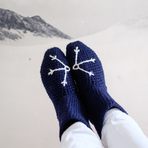 Snowflake Slipper Socks