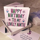 Personalised Aunt Birthday Book Card