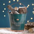 Green And Copper Personalised Bucket