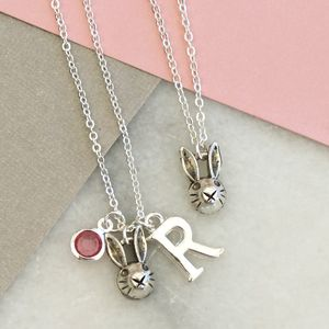 Personalised Rabbit Charm Necklace - children's accessories