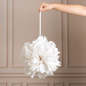 Pack Of Three White Pom Poms - decorative accessories