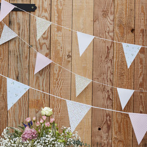 10m Wedding Party Floral Design Flag Bunting Decoration