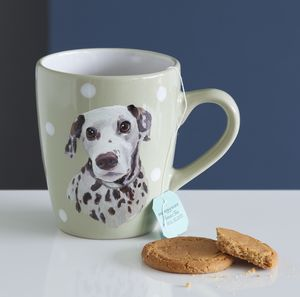 Personalised Hand Painted Pet Dog Portrait Mug - pet lover
