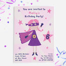 Superhero Girls Party Invitations