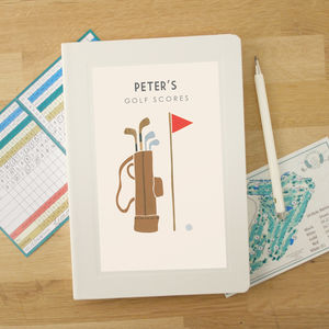 Personalised Golf Notebook - personalised