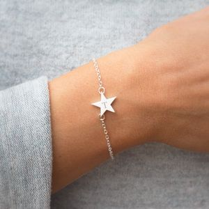 Personalised Silver Star Bracelet - jewellery sale