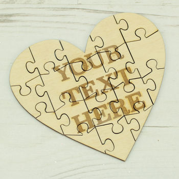 Personalised 18 Piece Puzzle With Your Own Message