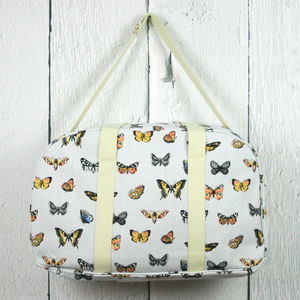 Butterfly Print Weekend Bag