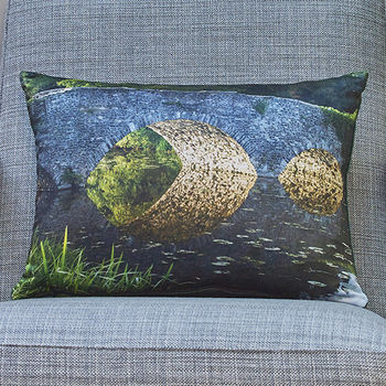 'Lemon Brothers Bridge' luxury handmade photo-cushion