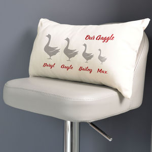 Personalised Gaggle Of Geese Family Cushion - what's new