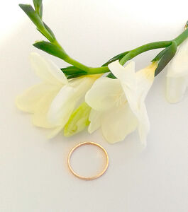 Dainty Hammer Finish Solid Gold Ring
