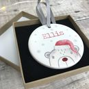 Ceramic Christmas Hanging Decoration For Child