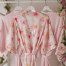 Floral Pink Wedding Watercolour Robe Gown
